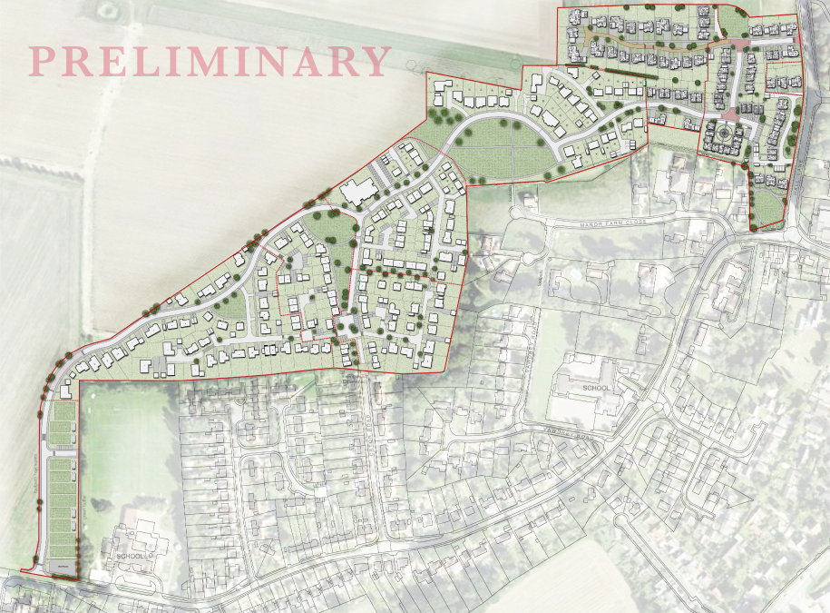 Preliminary plans for Manor Park