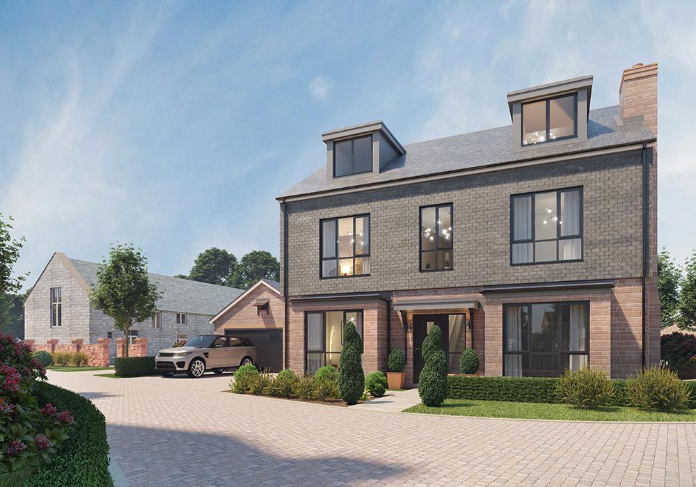 New build houses in Storeton